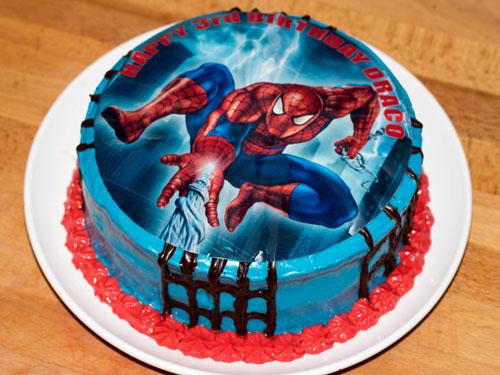 تزیین کیک تولد - عکس کیک تولد - کیک مرد عنکبوتی