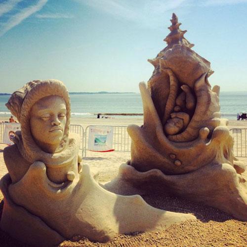 جشنواره مجسمه شنی - مجسمه سازی با شن