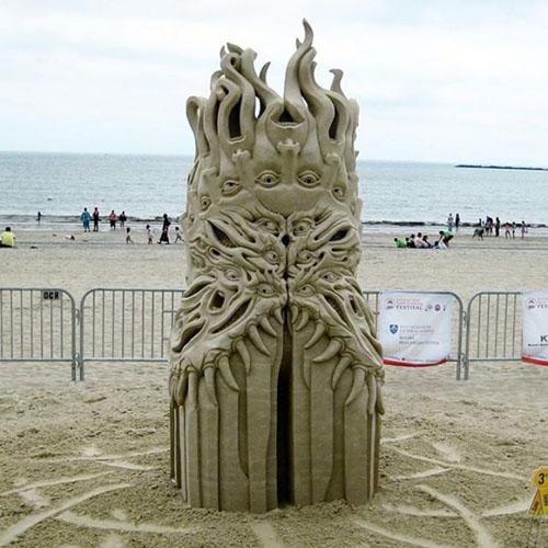 فستیوال مجسمه های شنی - مجسمه سازی با شن