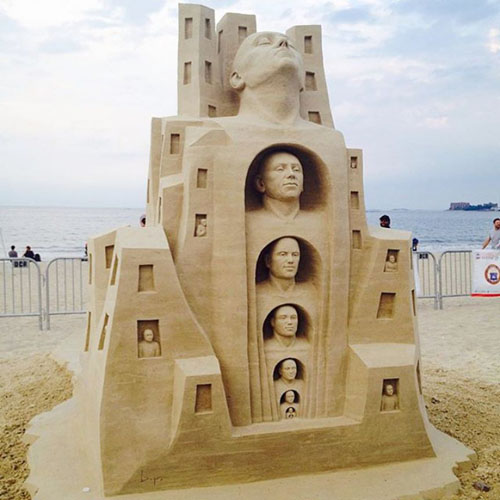 تصاویری از جشنواره مجسمه های شنی بوستون