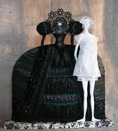 عروسک های زیبا - مجسمه های پارچه ای