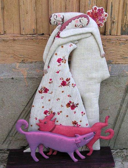 عروسک های جالب - مجسمه های پارچه ای