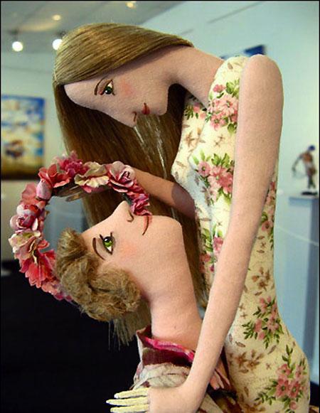 عروسک عاشقانه - طراحی عروسک