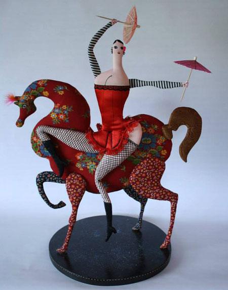 عروسک های دست ساز - مجسمه های پارچه ای