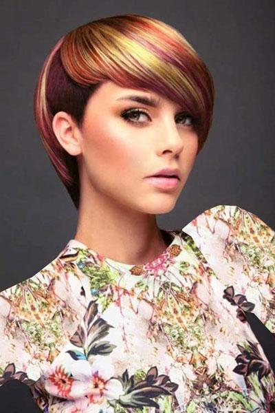 هایلایت مو - مدل مو فشن - مدل رنگ مو - کوتاهی مو