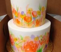 رنگ آمیزی کیک , کیک آبرنگی