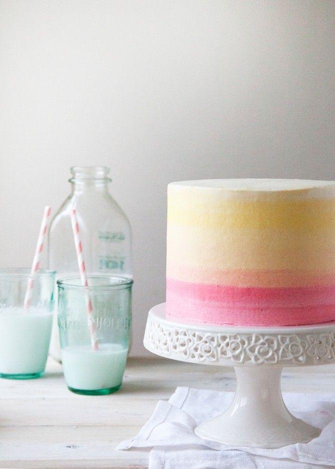 تزیین کیک , کیک آبرنگی