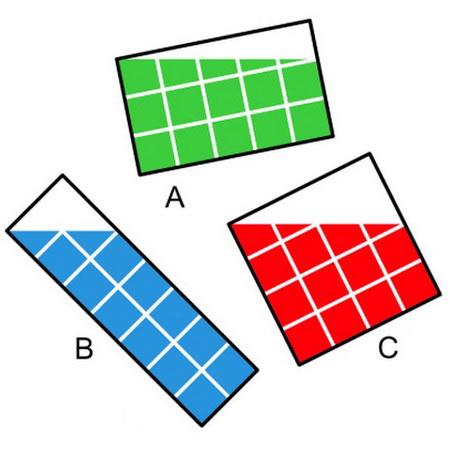 معماهای جدید, معمای ریاضی , بیشترین مساحت رنگی