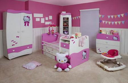 مدل تخت و کمد نوزادی,سرویس خواب های دخترانه