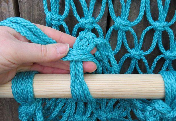 آموزش مکرومه - آموزش طناب بافی - آموزش تصویری ساخت تاب مکرومه