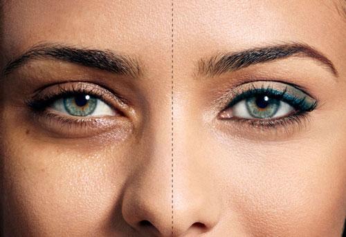ترفند آرایشی برای رفع کبودی زیر چشم,رفع سیاهی زیر چشم
