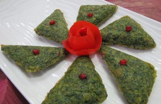 تزئین کوکو - انواع کوکو - تزیین کوکوی سبزی