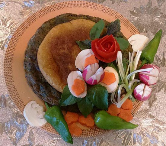 تزیین کوکو - انواع کوکو - تزیین کوکوی سبزی