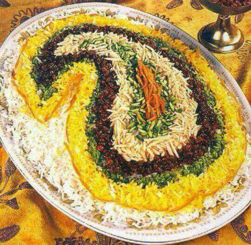 آشپزی آسان سفره آرایی  , عکس تزیین برنج - انواع پلو و چلو مجلسی (2)