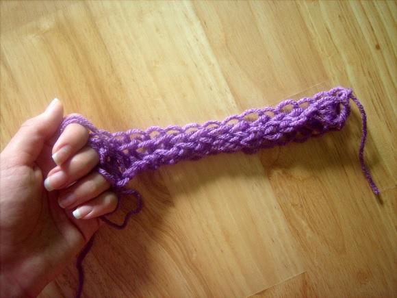 آموزش بافتنی  , بافت شال گردن با دست بدون نیاز به میل و قلاب