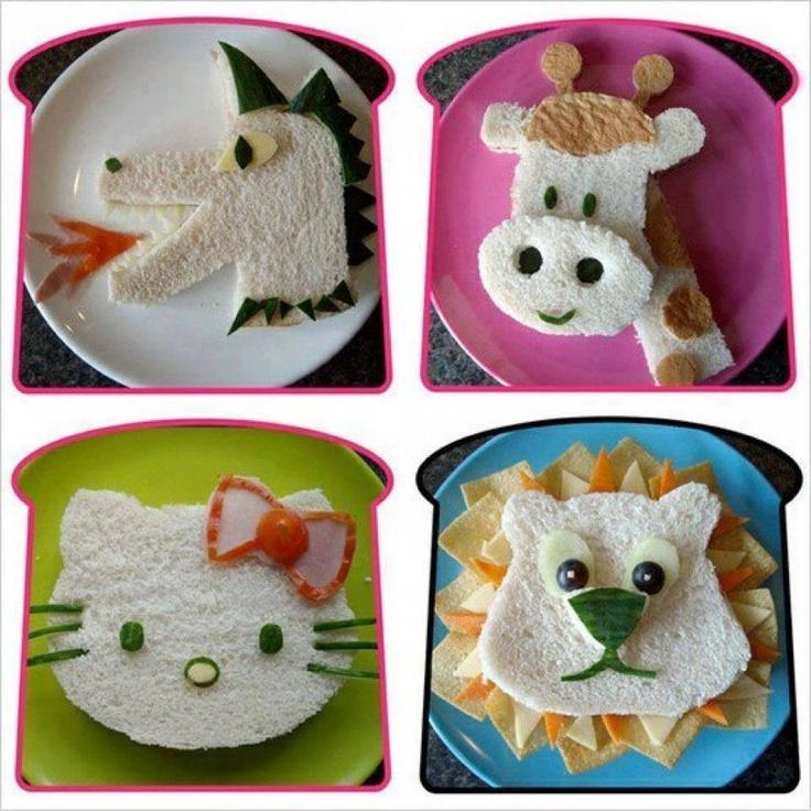تزئین غذای بچه ها - سفره آرایی - تزیین صبحانه برای بچه ها