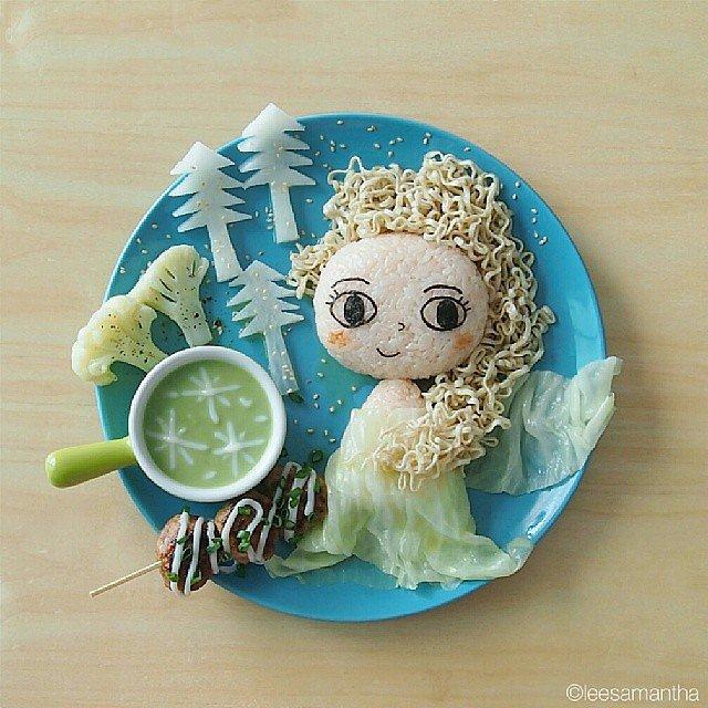 نمونه هایی از مدل تزیین غذای کودک