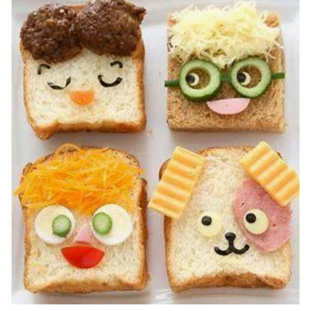 تزئین غذای کودک - سفره آرایی - تزیین صبحانه