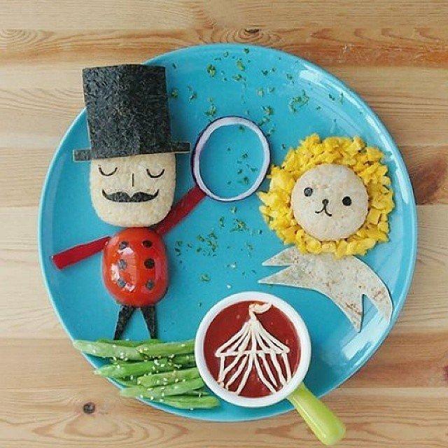 ایده هایی برای تزیین غذای کودک