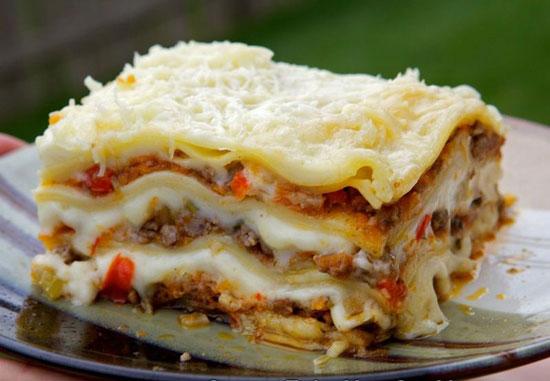 دستور پخت غذا  , طرز تهیه لازانیا با گوشت معطر و سبزیجات