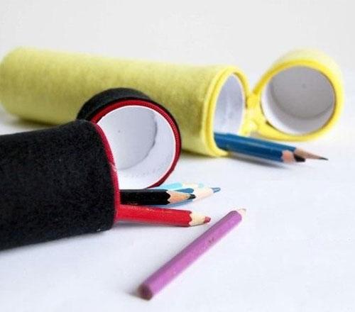 آموزش ساخت جامدادی نمدی با رول توالت - جامدادی بازیافتی