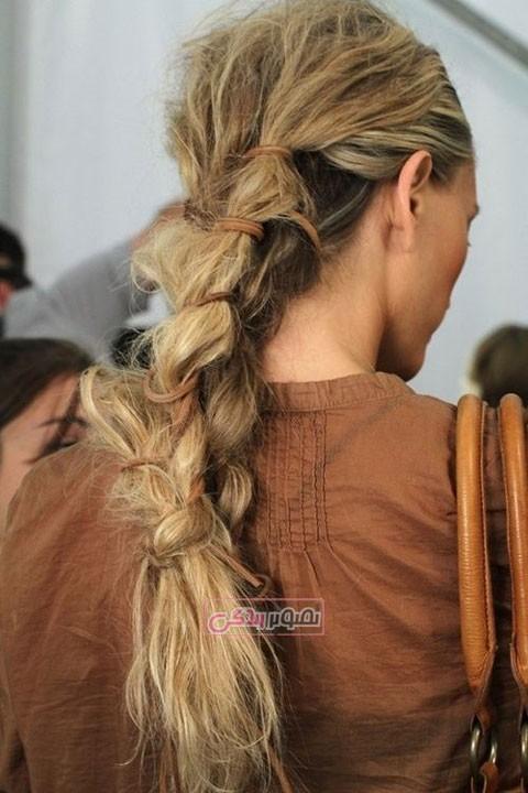 مدل بافت مو دخترانه - مدل بستن موی بلند