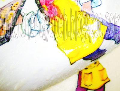نقاشی روی ژله - آموزش روش تهیه ژله تصویری