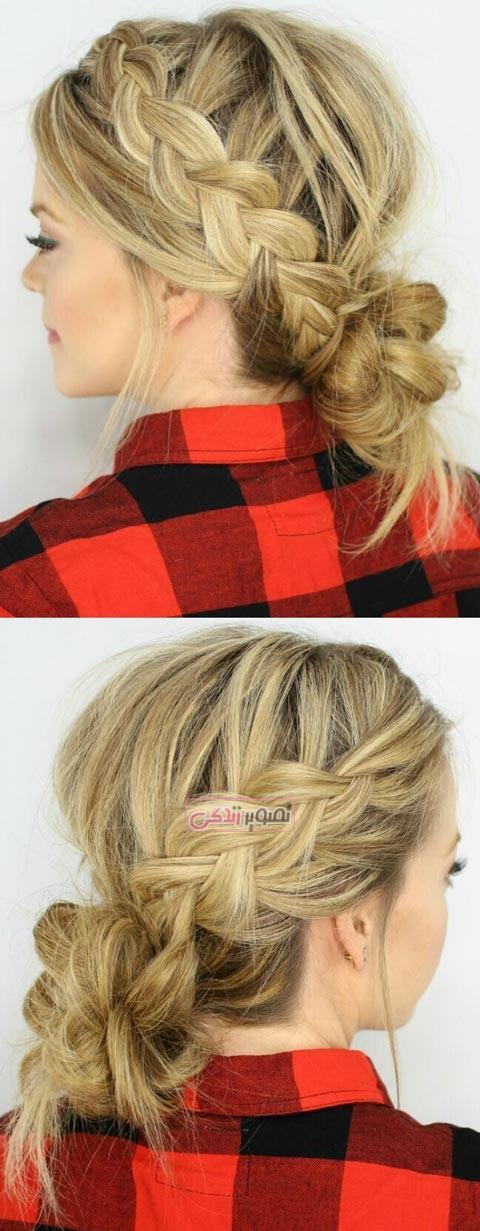 مدلهای زیبای بافت مو - بافت مو دخترانه - مدل موی دخترانه