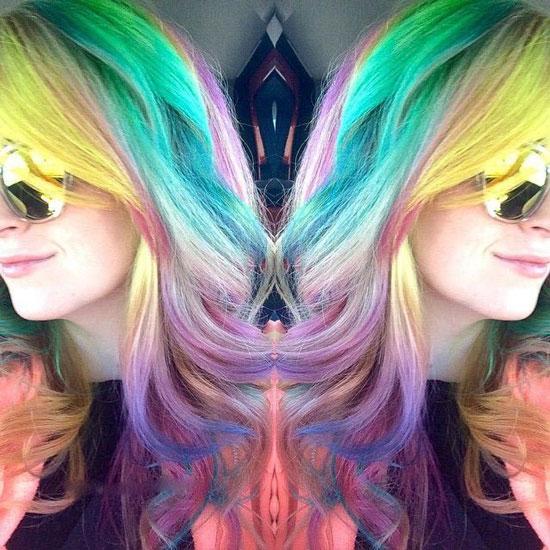 مدل موی رنگین کمانی - موهای هفت رنگ