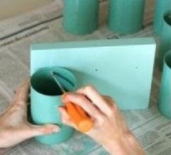هنر بازیافت - بازیافت قوطی های فلزی خالی - کاردستی با قوطی