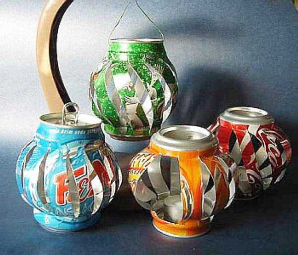 ایده هایی برای بازیافت قوطی های فلزی
