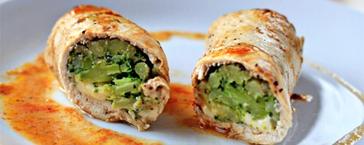 دستور پخت غذا  , طرز تهیه رولت مرغ و سبزیجات