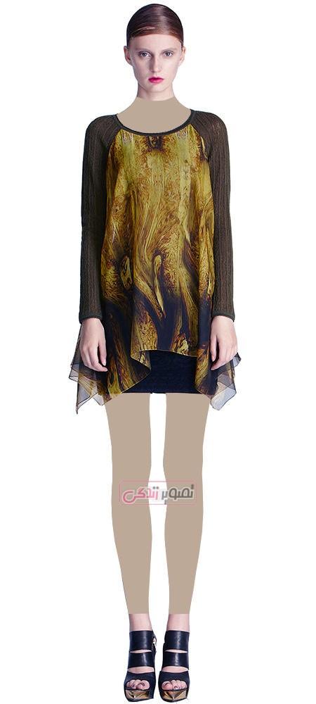 مدل لباس مجلسی زنانه - مدل تونیک دخترانه حریر