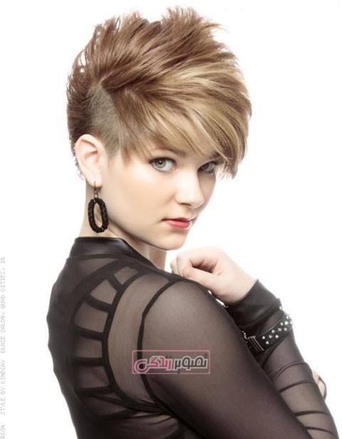 مدل موی دخترانه - مدل کوتاهی مو - موهای کوتاه زنانه