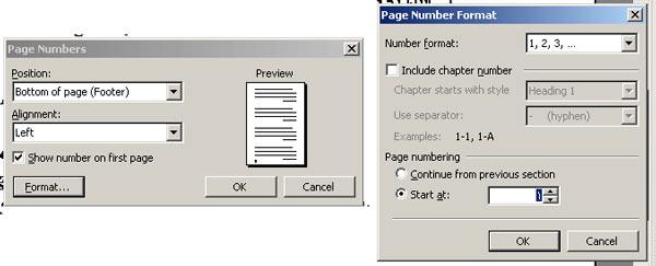 آموزش word : شروع شماره صفحه به دلخواه