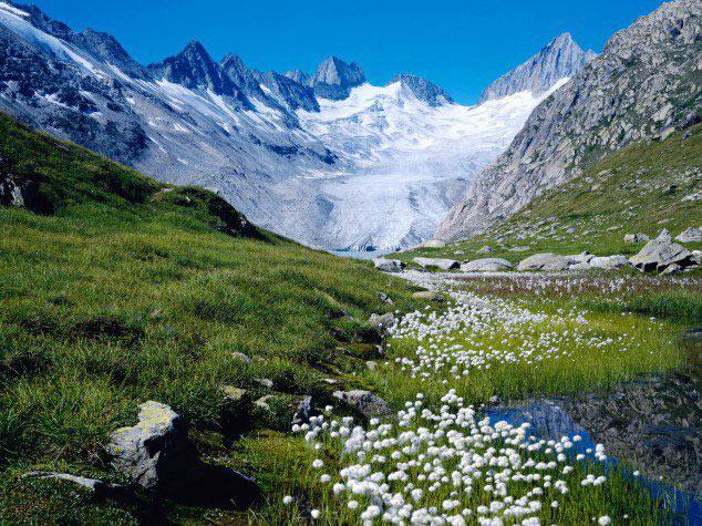 پاییز در کوه های آلپ سوئیس