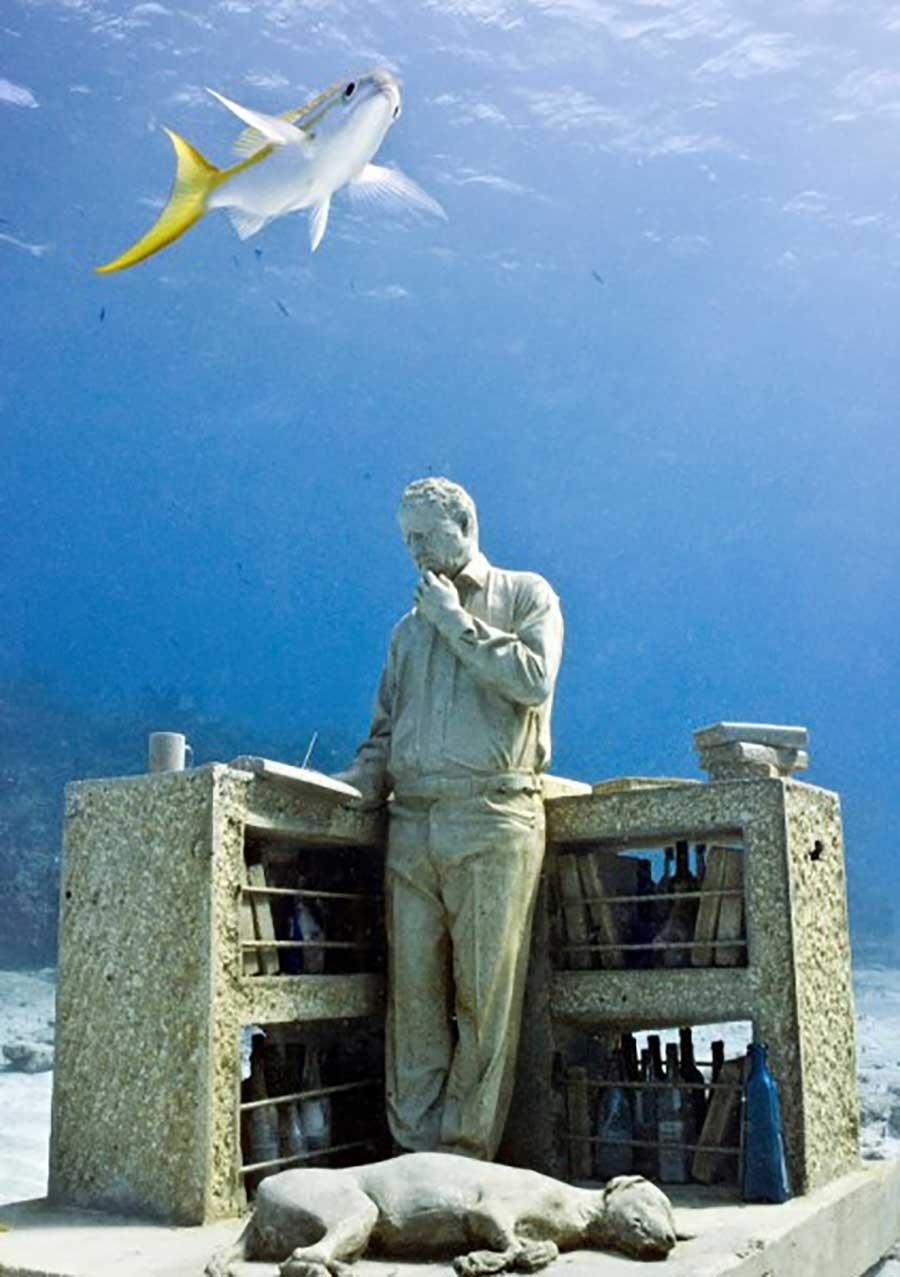 عکس مجسمه های زیر آب موزه کانکون در مکزیک