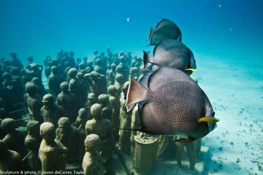 تصاویر دیدنی از کانکون اولین موزه زیر آب جهان