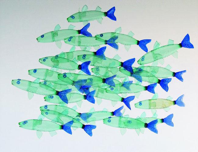 بازیافت بطری پلاستیکی , ساخت ماهی با بطری