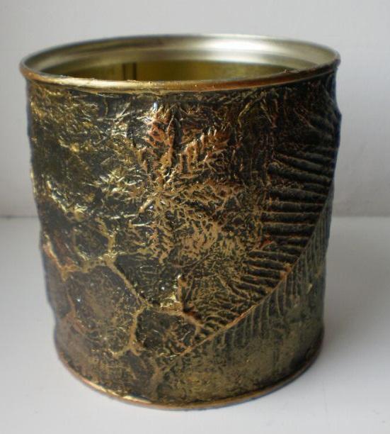 بازیافت قوطی های فلزی - تزیین قوطی فلزی خالی