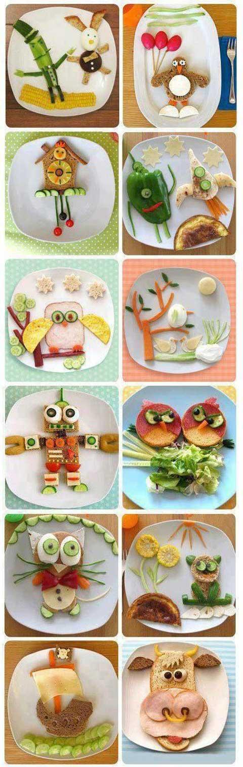 سفره آرایی - تزیین غذای کودک