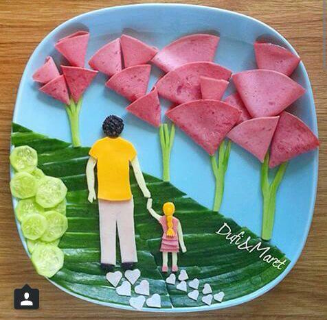 ایده هایی برای تزیین غذای کودکان