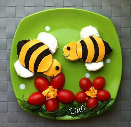 سفره آرایی - تزیین غذای بچه