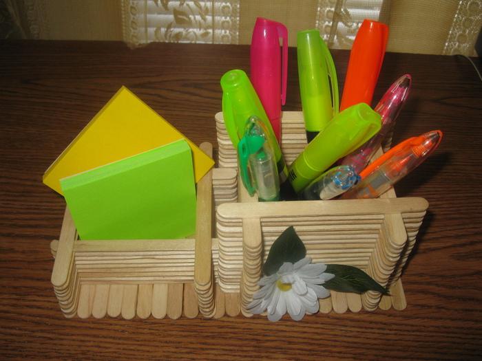 ایده هایی برای ساخت جا لوازم التحریری با چوب بستنی