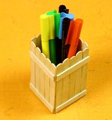 کاردستی با جای دارو ایده هایی برای ساخت جامدادی با چوب بستنی - مجله تصویر زندگی