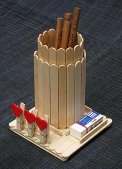 ایده هایی برای ساخت جامدادی با چوب بستنی