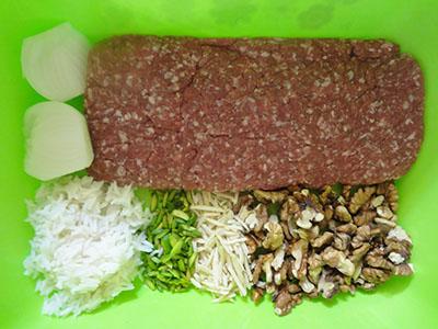 دستور پخت غذا  , طرز تهیه کوفته آجیلی آذربایجانی