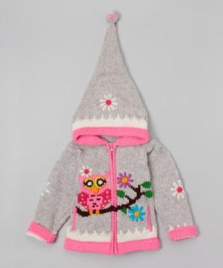 ژاکت کلاه دار بافتنی دخترانه - سویشرت بافتنی دخترانه