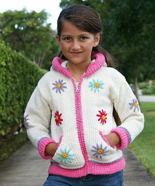 ژاکت بافتنی دخترانه - مدل لباس بافتنی بچگانه