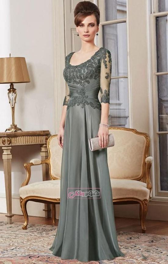 مدل لباس مجلسی 2016 - پیراهن مجلسی بالاتنه گیپور